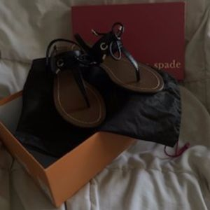 Kate Spade Carolina Black Sandals - size 7